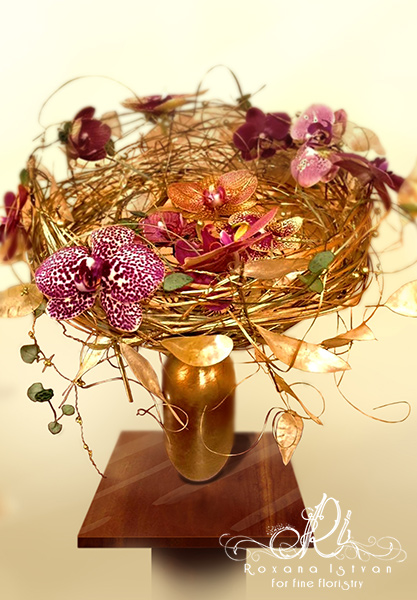 innovative floral design christmas gift wire structure nest shape
